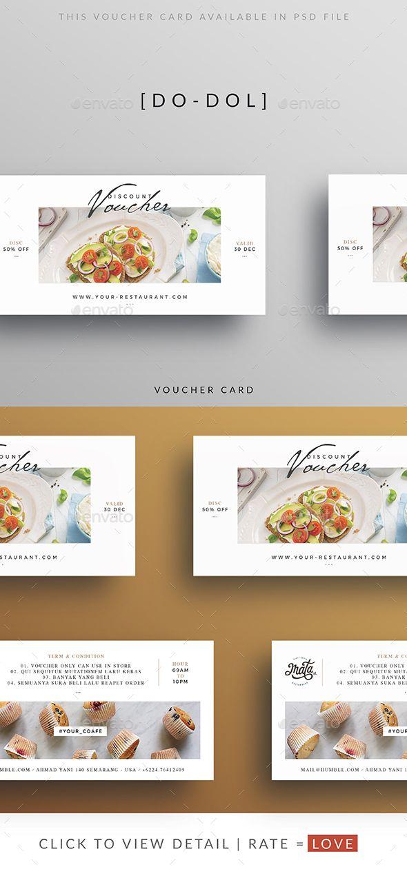 Restaurant Clean Voucher — Photoshop PSD #elegant #voucher template • Download ➝ https://graphicriver.net/item/restaurant-clean-voucher/19388704?ref=pxcr