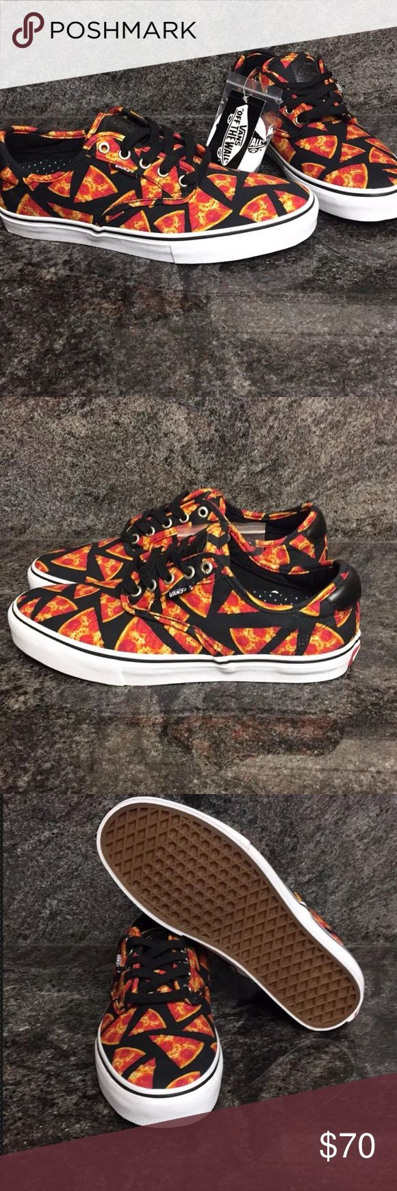 Vans Chima Ferguson Pro Digi Pizza Skate Shoes Vans Chima Ferguson Pro Digi Pizza Skate Shoes New with tag  Size: Men's 11.5 These great shoes have ultra cush lite insoles and a fun pizza design. They come with an extra white pair of shoes laces. Vans Shoes Sneakers