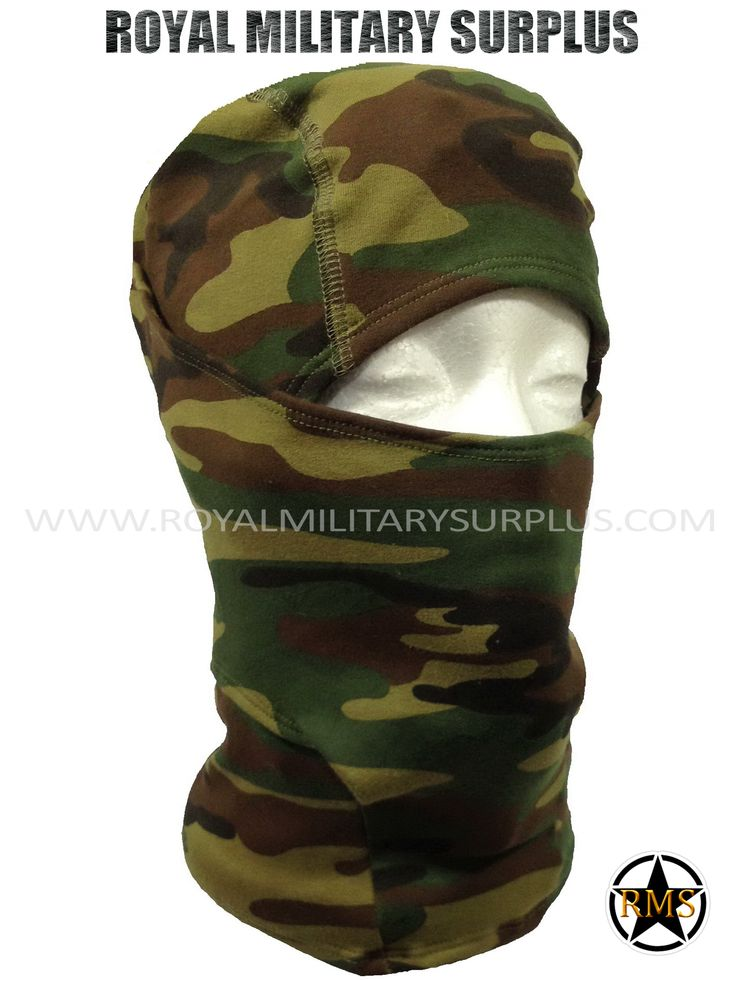This US WOODLAND Camouflage Pattern Military Balaclava / Hood is in use by US Marines/Army. Made following Military Specifications (Adaptive/Ninja Style). All items are brand new and available. In use by Army, Military, Police and Special Forces of International Forces. Visit our Website at www.royalmilitarysurplus.com