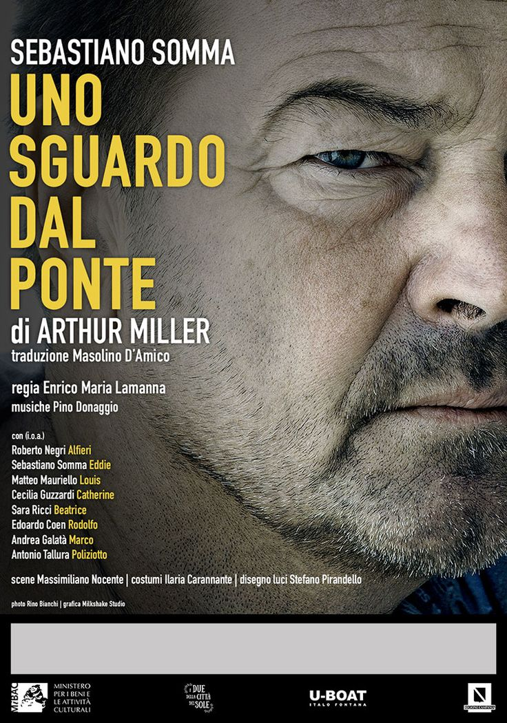 UNO SGUARDO DAL PONTE | Teatro Carcano Locandina ufficiale