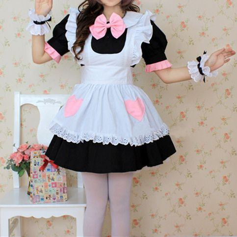 Halloween Cosplay Coffee Cafe Maid Dress Free Ship SP141212 #jfashion #CustomMade