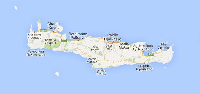Vakantie naar Kreta in Griekenland. Informatie over bezienswaardigheden, badplaatsen en stranden. Handige tips en mooie foto's van het Griekse eiland Kreta.