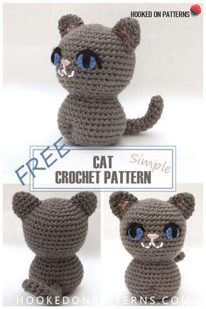 Simple Free Crochet Cat Pattern Dyr Hklet Eller Strikket