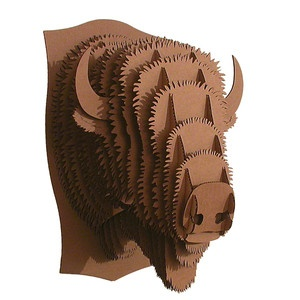 Giant Billy Bison Trophy Brown now featured on Fab. cardboard art