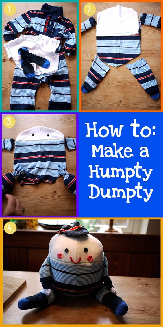 humpty-dumpty how to make a stuffed one and the history of Humpty - the original was a cannon!