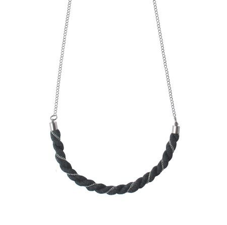 Nouseva Myrsky Braided necklace, made from organic cotton!