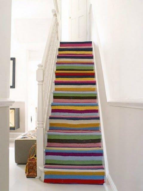 escalier peint effet tapis Escalier peint 17 Idées peinture escalier