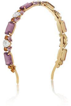Dolce & Gabbana Gold-plated Swarovski crystal headband | NET-A-PORTER