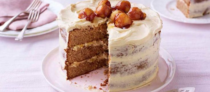 Kate's Sticky Toffee Apple Caramel Cake from The Great British Bake Off. The best cake ever with amazing apple flavor