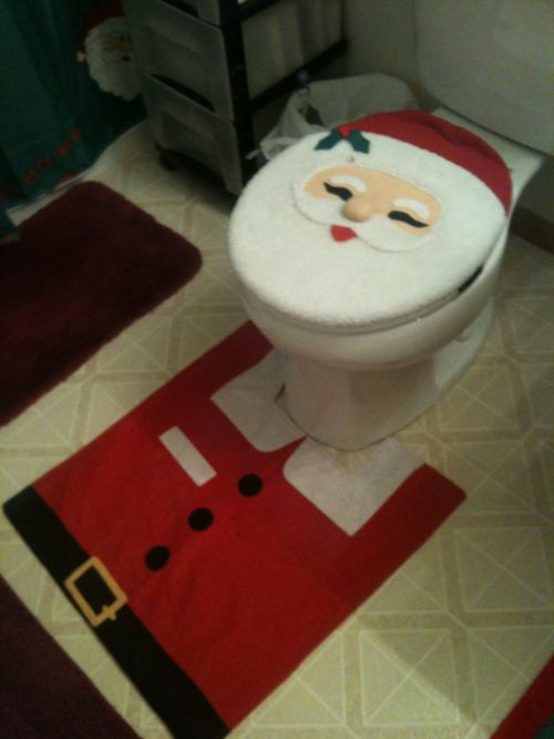 Santa Clause toilet cover!