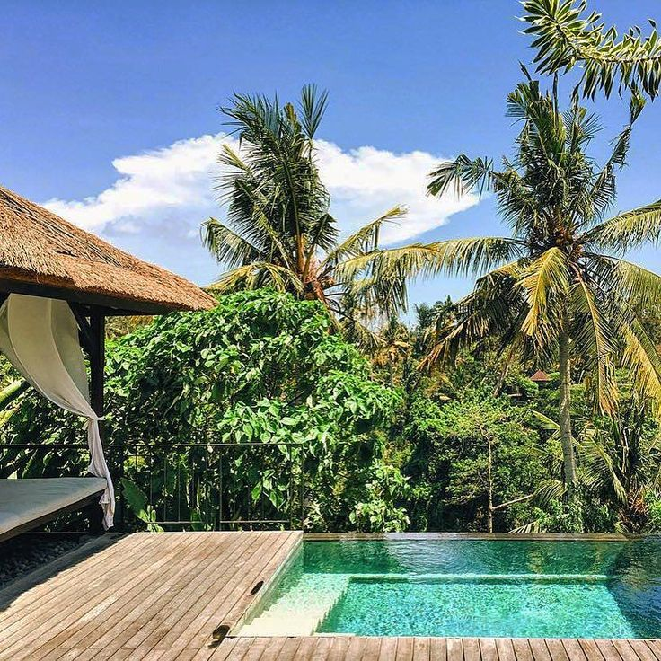 """A private plunge pool with views across the valley in @nancyhgibbs' words: """"You just can't beat it"""" Photo: @nancyhgibbs #UmaByComo #Ubud #Bali"""