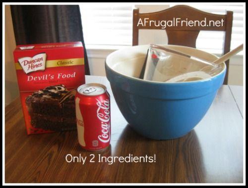 Easy Devil's Food Coca-Cola Cake Recipe (yes, only 2 ingredients) @AFrugalFriend
