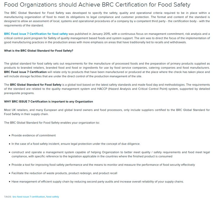 13 best BRC food issue 7 images on Pinterest Food packaging - best of certificate of conformity new york