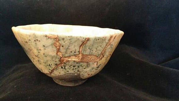 Imperfetti tenmoku in ceramica Kintsugi tecnica originale