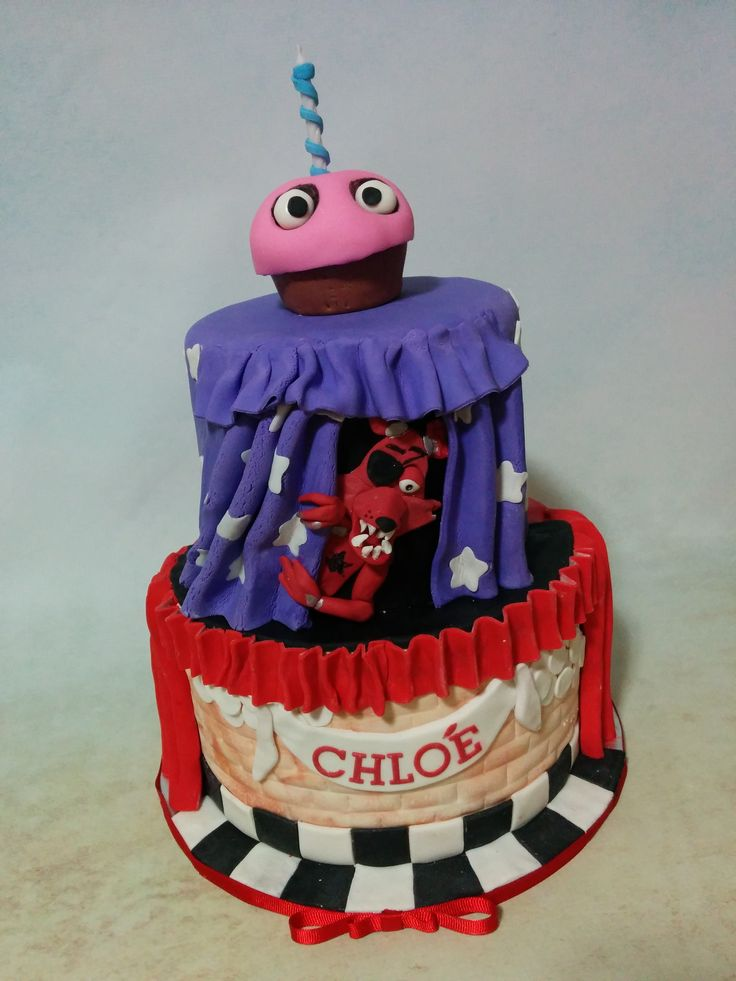 Five nights at Freddy's cake www.Facebook.com/cakethatbakery Www.cakethatbakery.com
