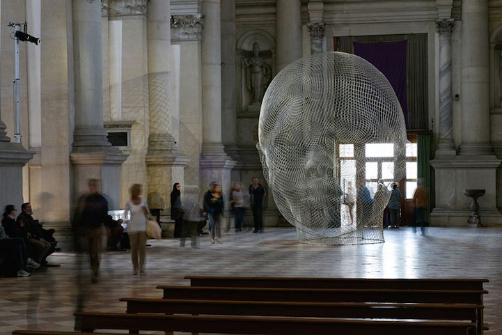 Beautiful Light-Catching Sculptures by Jaume Plensa in 400-Year-Old Church of San Giorgio Maggiore - My Modern Met