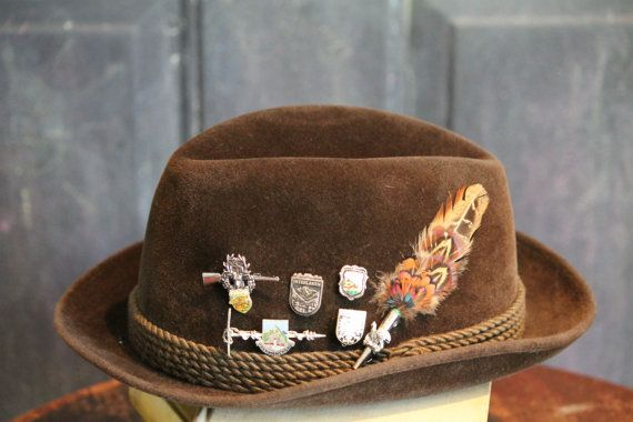 Vintage Octoberfest Collins Wien Bowler Fedora Hat With ...