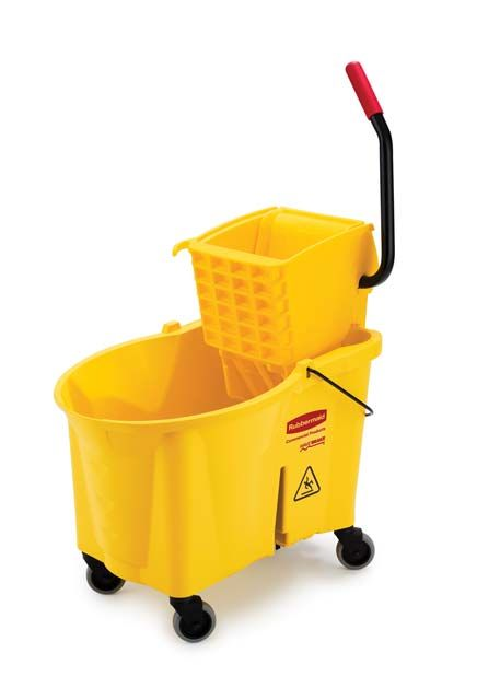 Side Press Wringer Bucket Combo: Mop wringer and bucket side press with step on pedal
