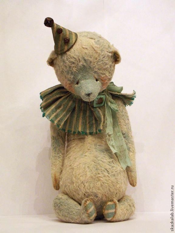 Купить Мото - мишка тедди, мишка ручной работы, авторский мишка, коллекционный мишка, винтаж
