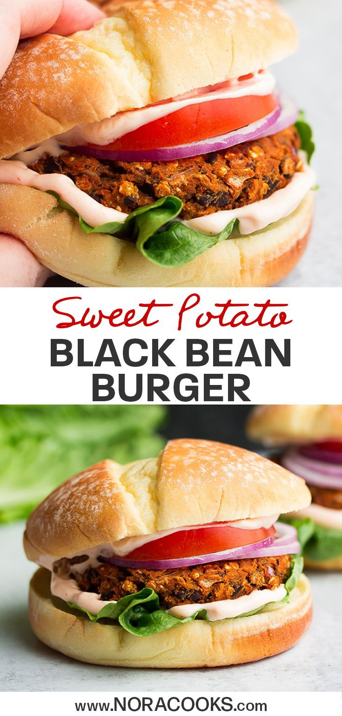 Easy Sweet Potato Black Bean Burgers In 2020 Easy Vegan Dinner Sweet Potato Black Beans Black Bean Burgers