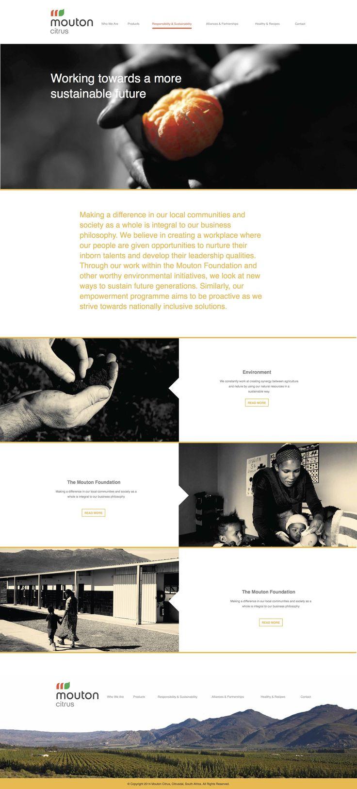 Mouton citrus, parallax, web design, UI, UX, fruit, farm
