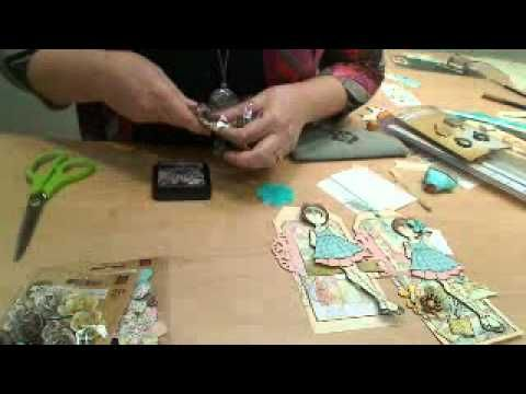 Mixed Media Doll Stamps with Julie Nutting on Live with Prim