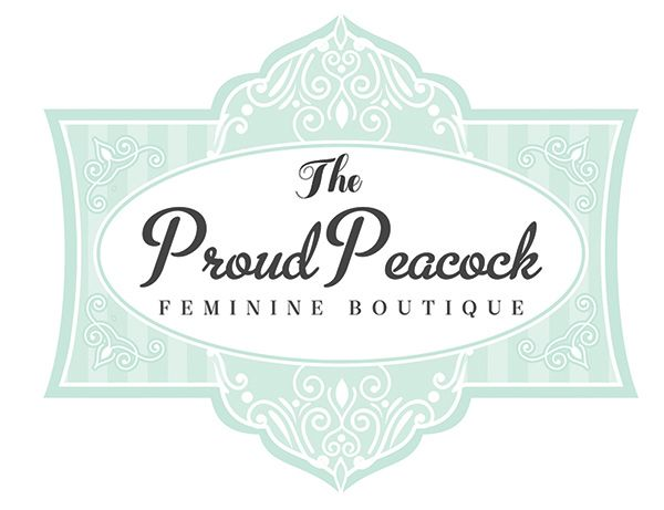 Vintage Retro Blue Logo Boutique Feminine Inspired By Your Truly Studio