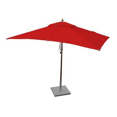 Greencorner 10 x 6.5 ft. African Mahogany Rectangular Patio Umbrella Jockey Red - RC1065QS2210