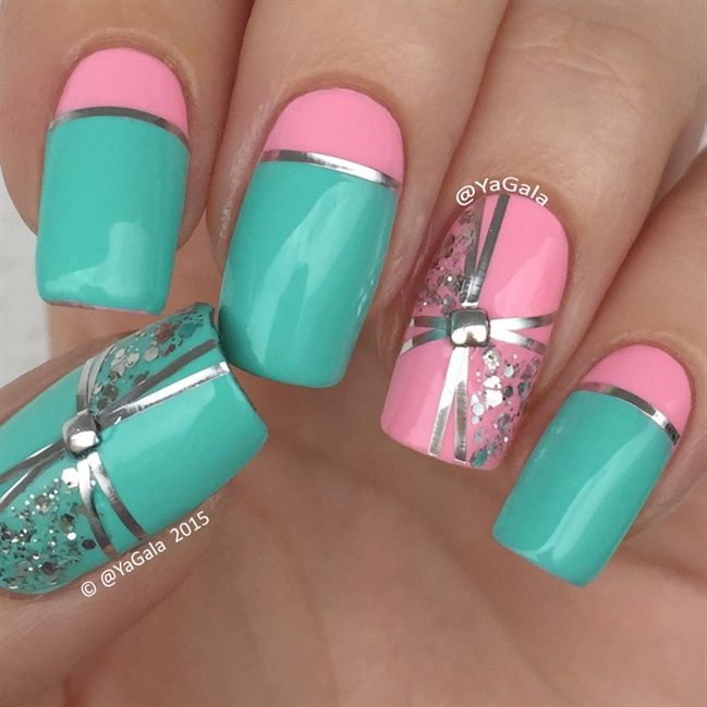 Nail Art Using Striping Tape: Striping Tape - Nail Art Gallery