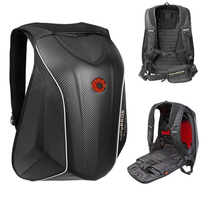 Motorcycle Backpack Tank Bag New Uglybros Mach6 Hard Shell Bag Motorcycle Riding Backpack Shoulder Waterproof