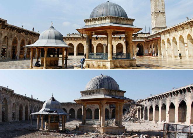 Mezquita antes y después.