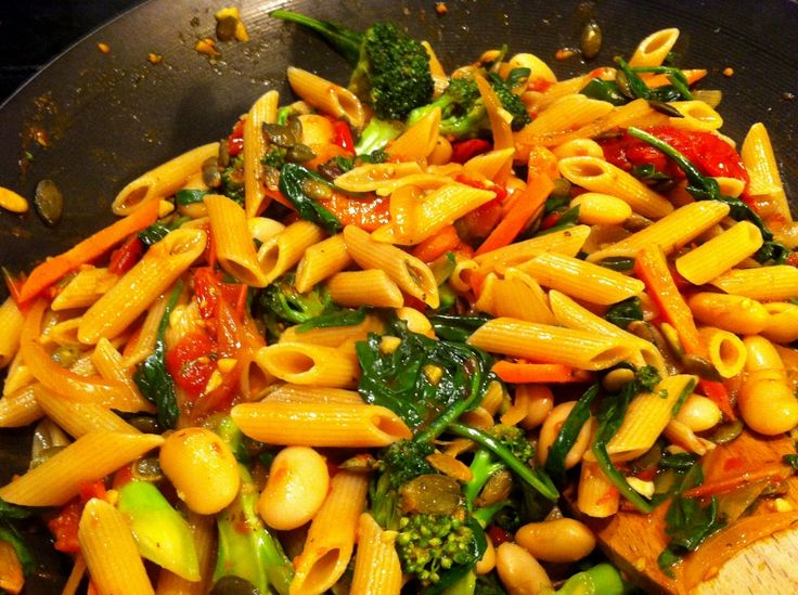 Pasta with veggies