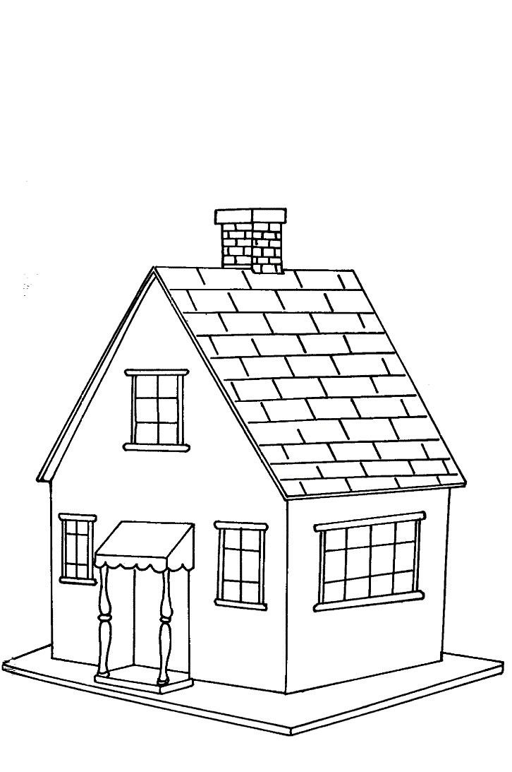 276 best COLORING PAGES | HOUSES | BUILDINGS | TREE HOUSES ...