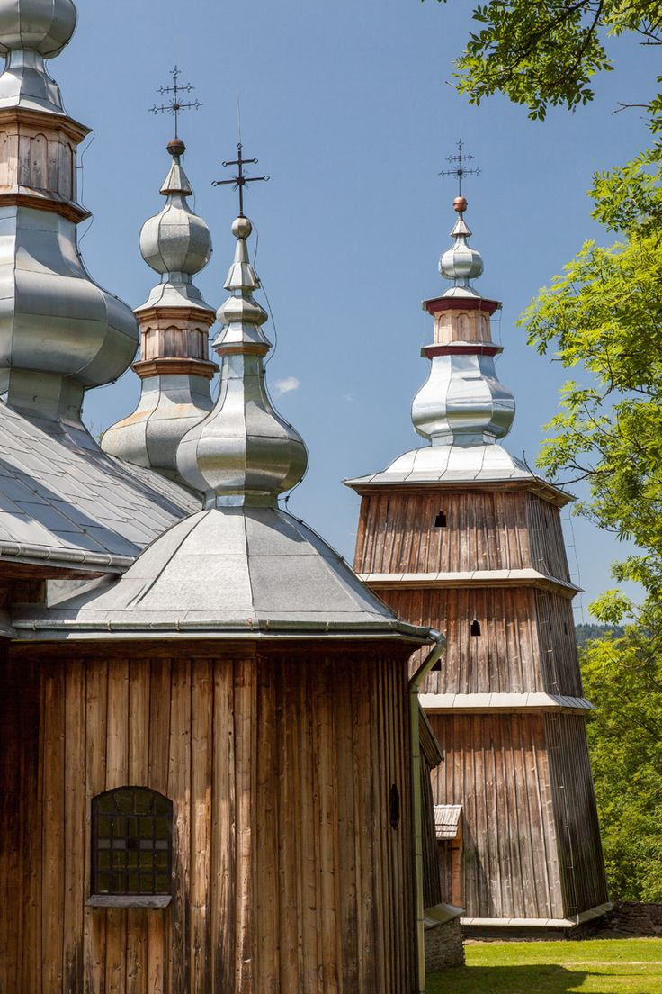 Turzańsk. Drewniana cerkiew greckokatolicka z 1803 roku. /  Turzansk. Wooden Greek Catholic Tserkva from 1803.    #Podkarpackie #Poland #UNESCO #WorldHeritageList