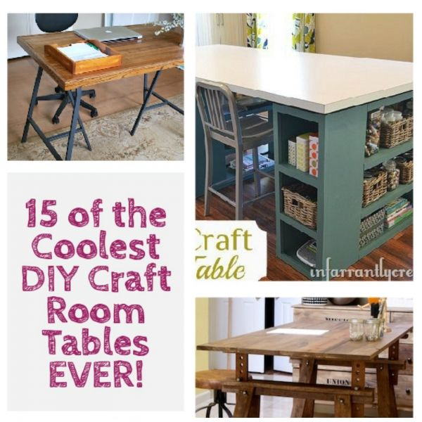 cool diy craft room tables popular pins pinterest crafts cool diy and craft rooms. Black Bedroom Furniture Sets. Home Design Ideas