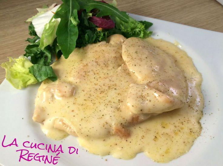 Secondo piatto: petto con carne di pollo cremoso al pepe verde