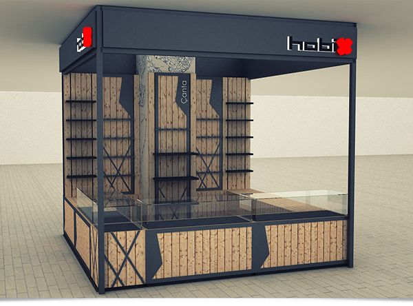 Retail Kiosk design for Hobix