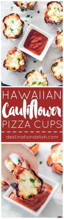 Hawaiian Cauliflower Pizza Cups | Destination Delish January - Senior-Chefs