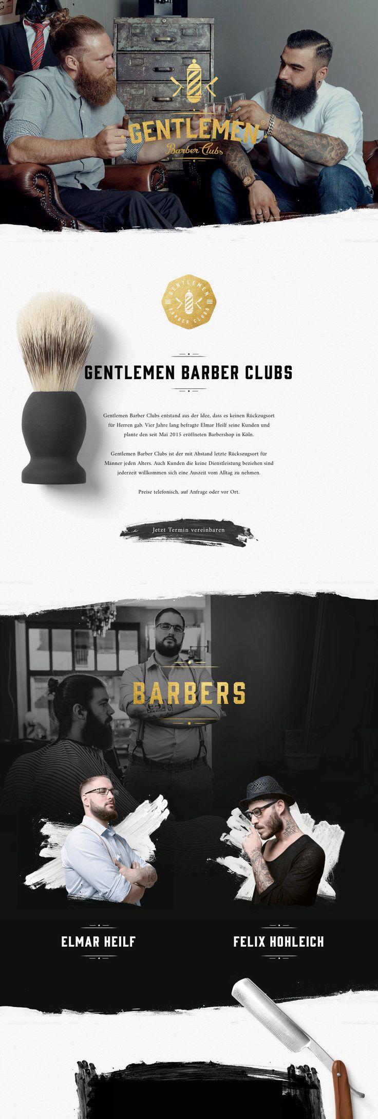 Gentlemen Barber Clubs (More web design inspiration at topdesigninspiration.com)…