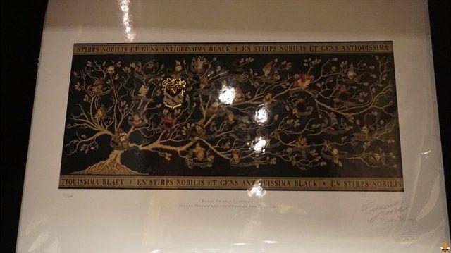ブラック家の家系図タペストリー ハリーポッター アートプリント コレクション 魔法使いパンケーキマン