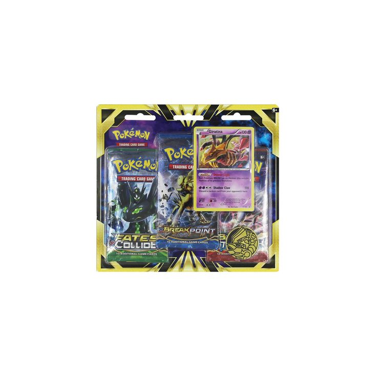 2016 Pokemon Trading Card Game 3 Pack Blister featuring Giratina