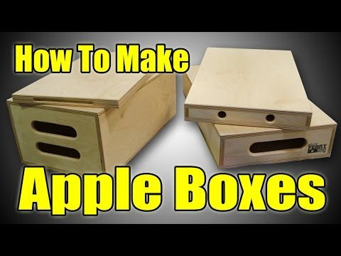 How To Make Apple Boxes, only need time and resources....and maybe some carpentry skills.