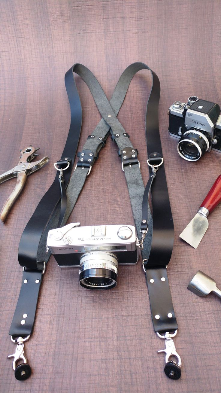 Dual Camera Strap, Double / Triple Camera Strap, Multi Camera Strap, Photographer Leather Harness, Photographer Gear, Multi Camera Harness by Sandalimshop on Etsy