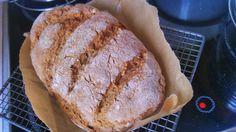 Teljes kiőrlésű kenyér dagasztás és kelesztés nélkül
