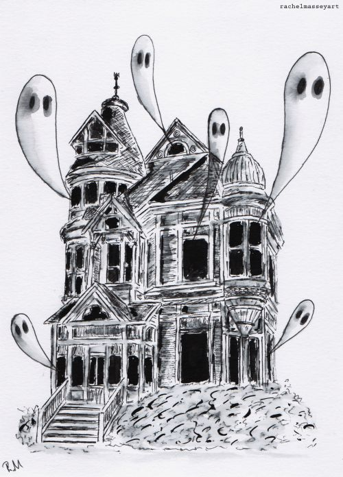 Inktober #7 | Haunted House
