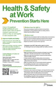 Poster: Health & Safety at Work - Prevention Starts Here