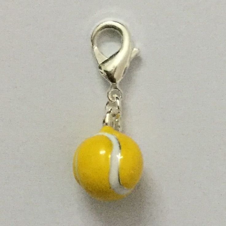LIAMTING Fashion Zinc Alloy Silver DIY Yellow Tennis Ball Thomas Charms For 20pcs/lot Matching Necklace And Bracelet C1381