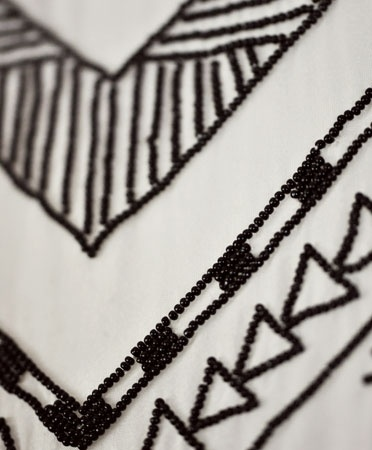 Black Beaded Bodice Gown - Mara Haffman