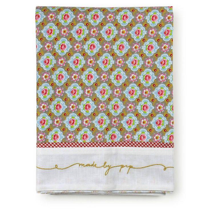 Discover the Pip Studio Blossom Khaki Tablecloth - 150x250cm at Amara