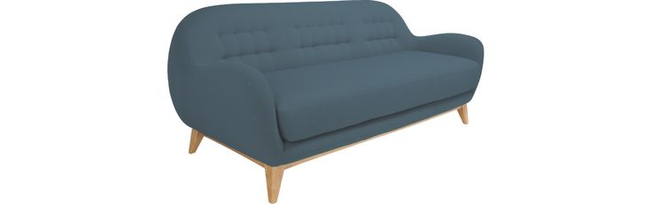 Balthasar ii 3-Sitzer-Sofa aus Stoff, blau (www.habitat.fr)